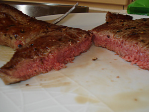 juicy steak medium-rare