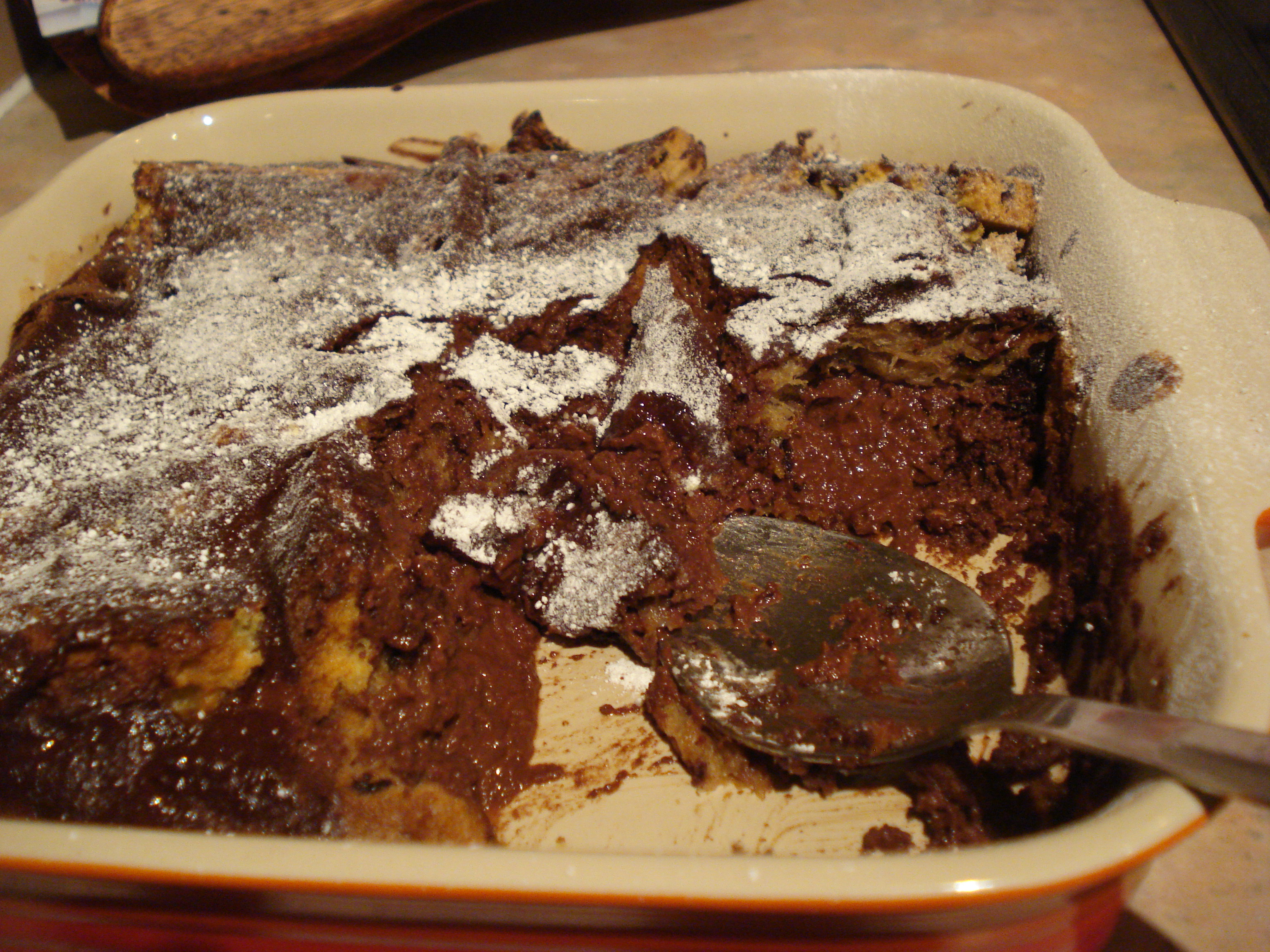 Black forest bread pudding: