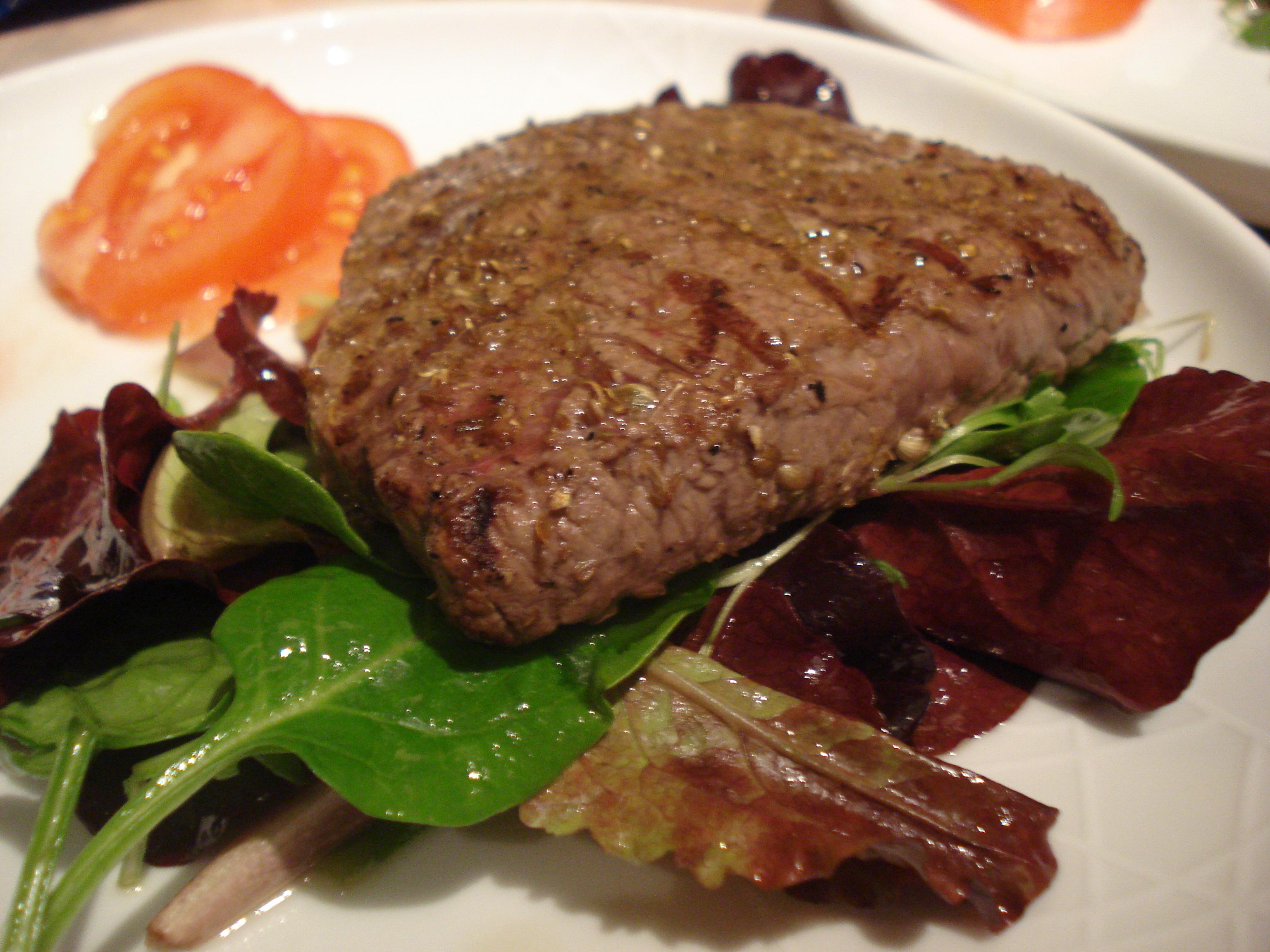 cumin and coriander steak salad