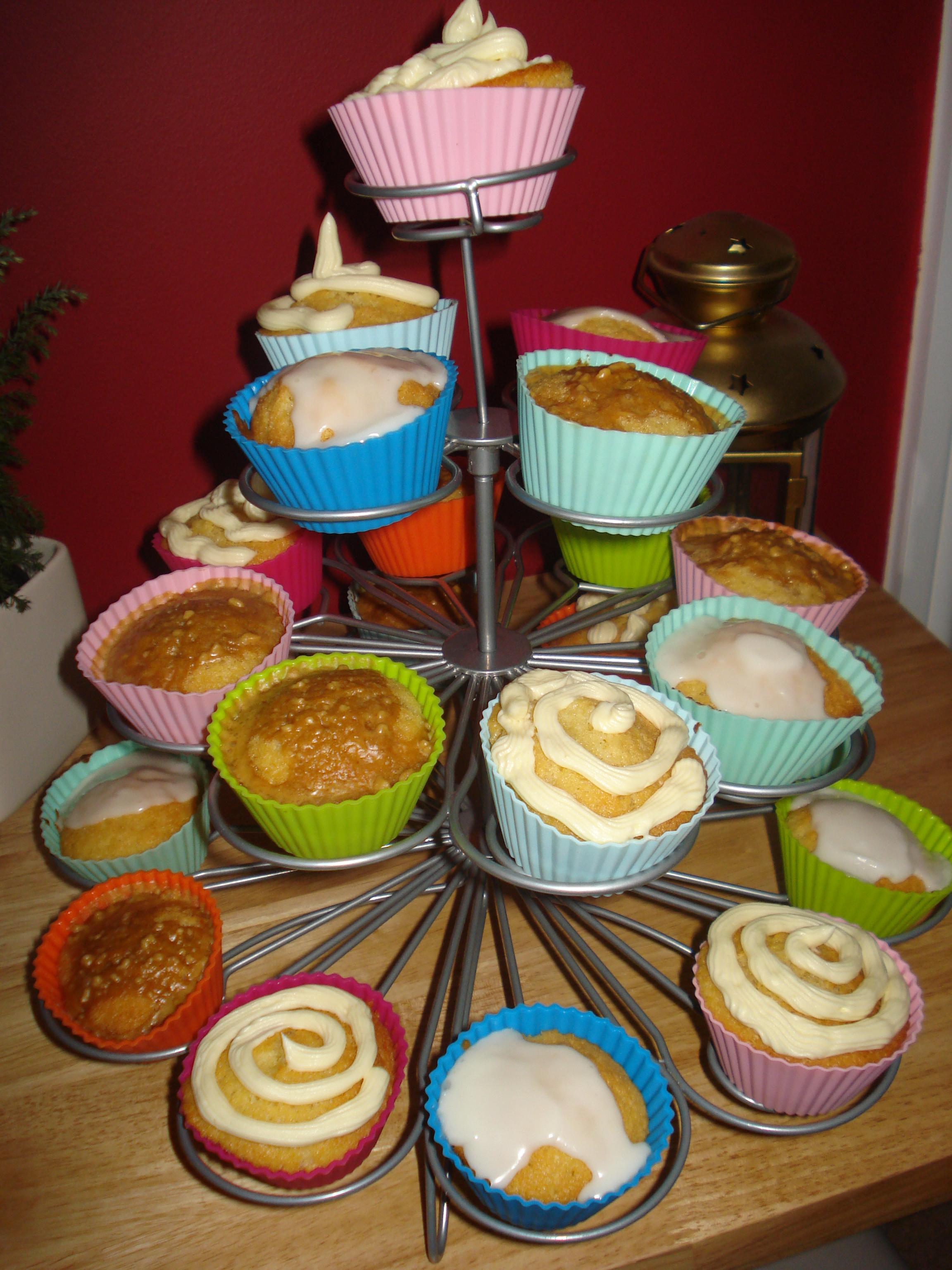 an array of cupcakes