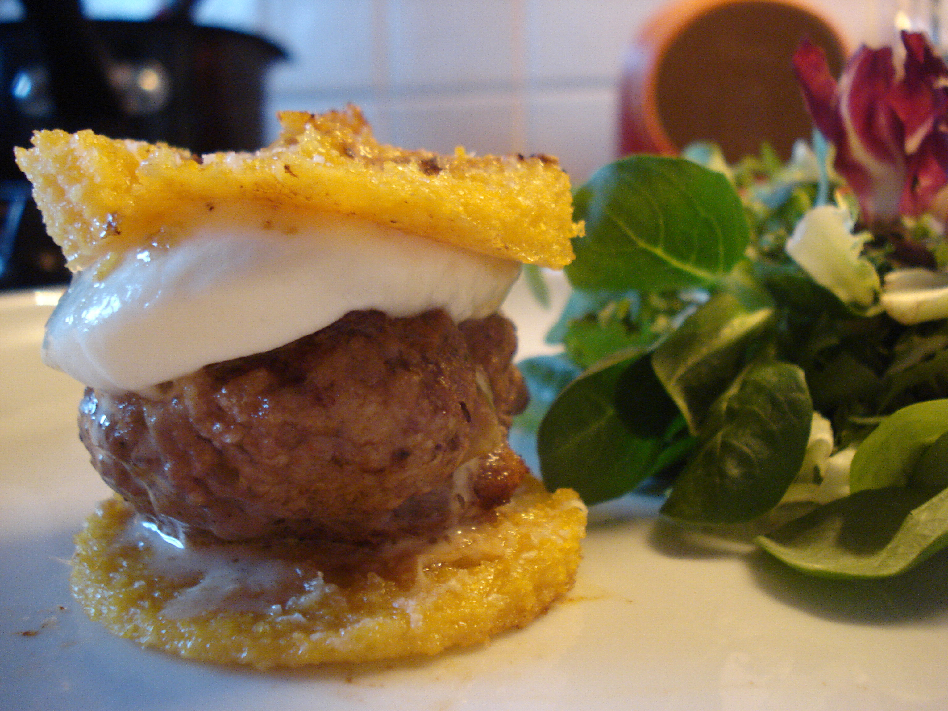 polenta beef sliders with mozzarella