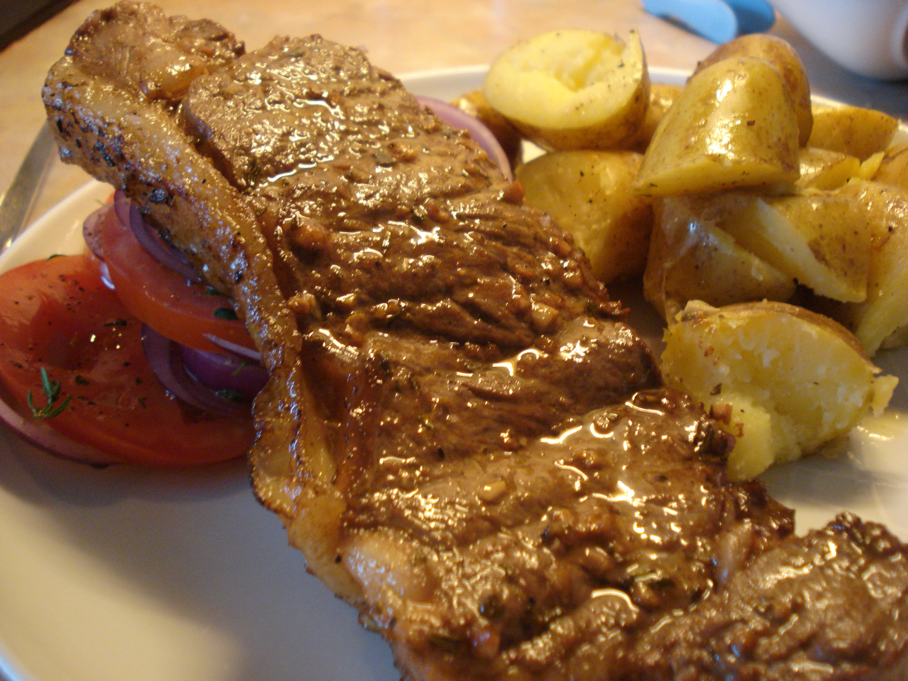 barbecued sirloin steak