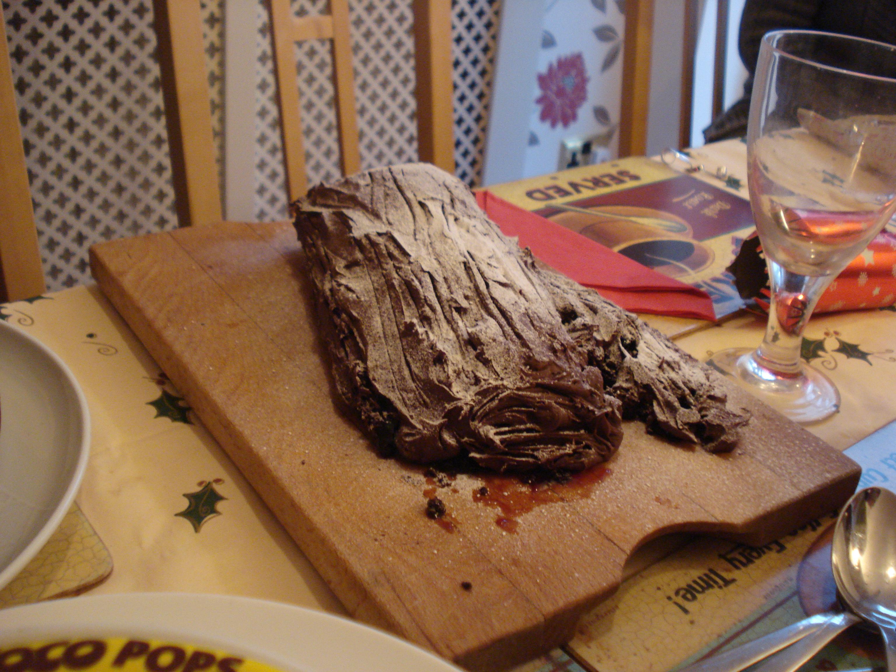black forest yule log