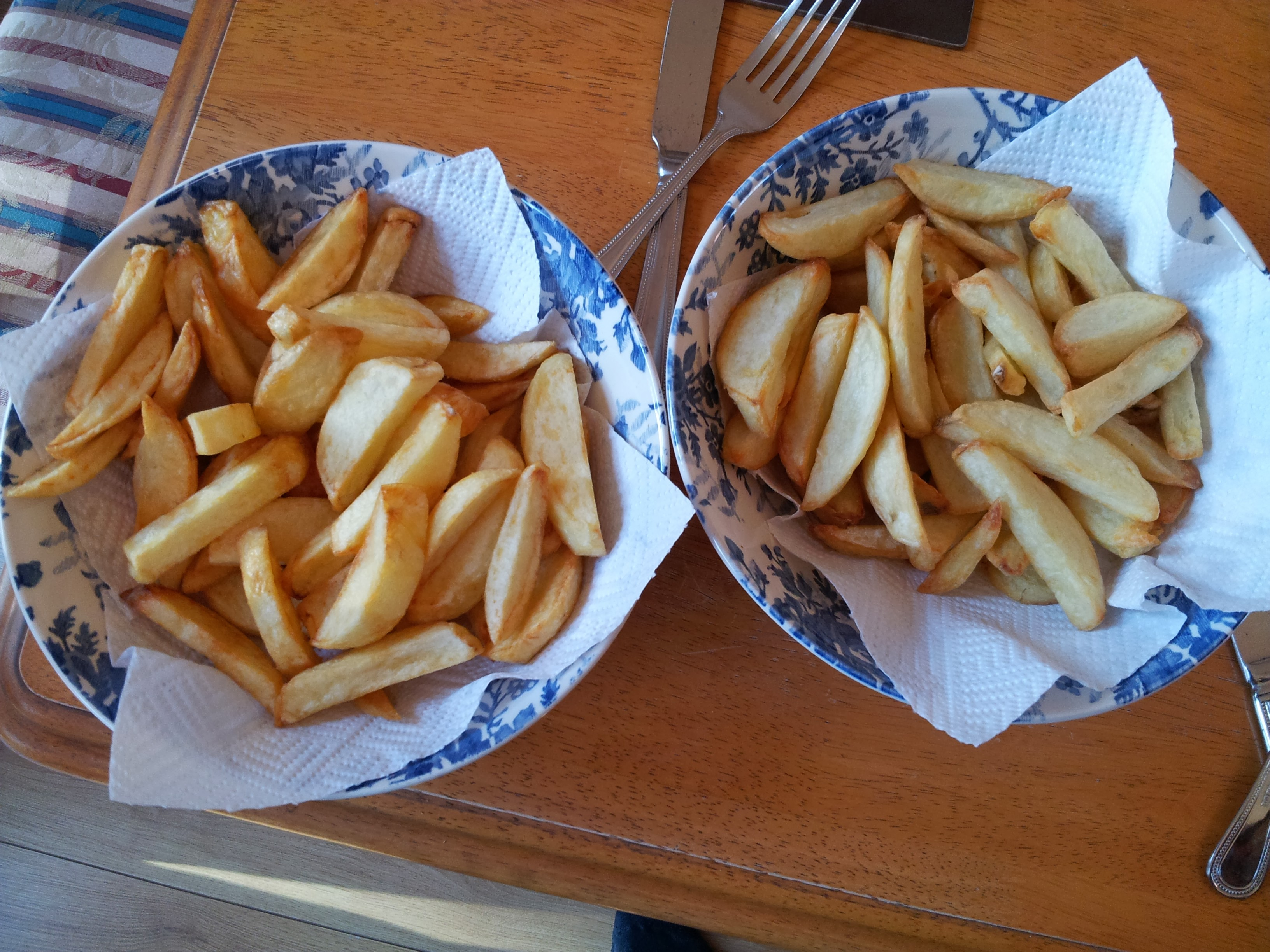 deep fried chips versus tefal actifry chips
