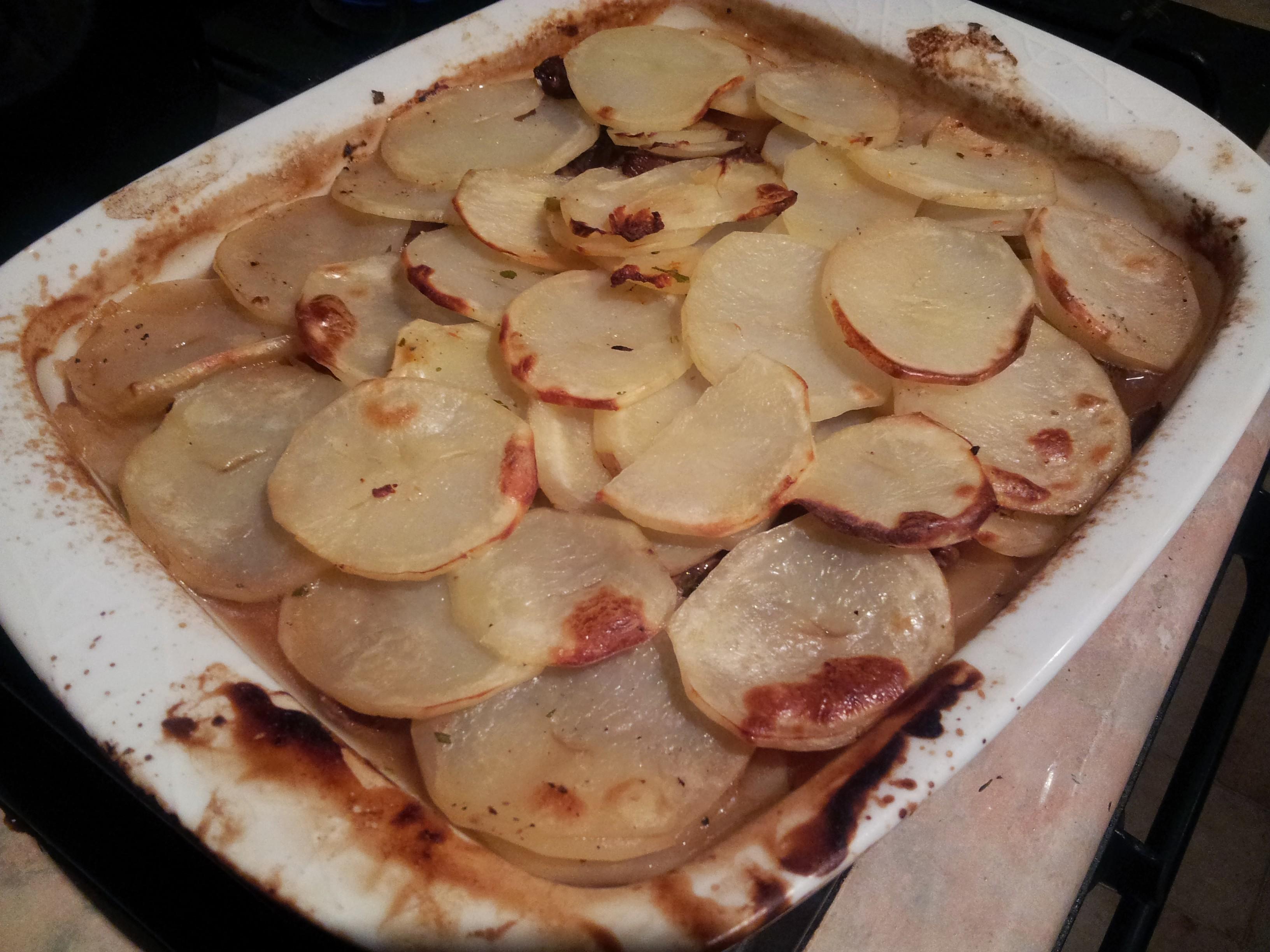 lamb & potatoes boulangere