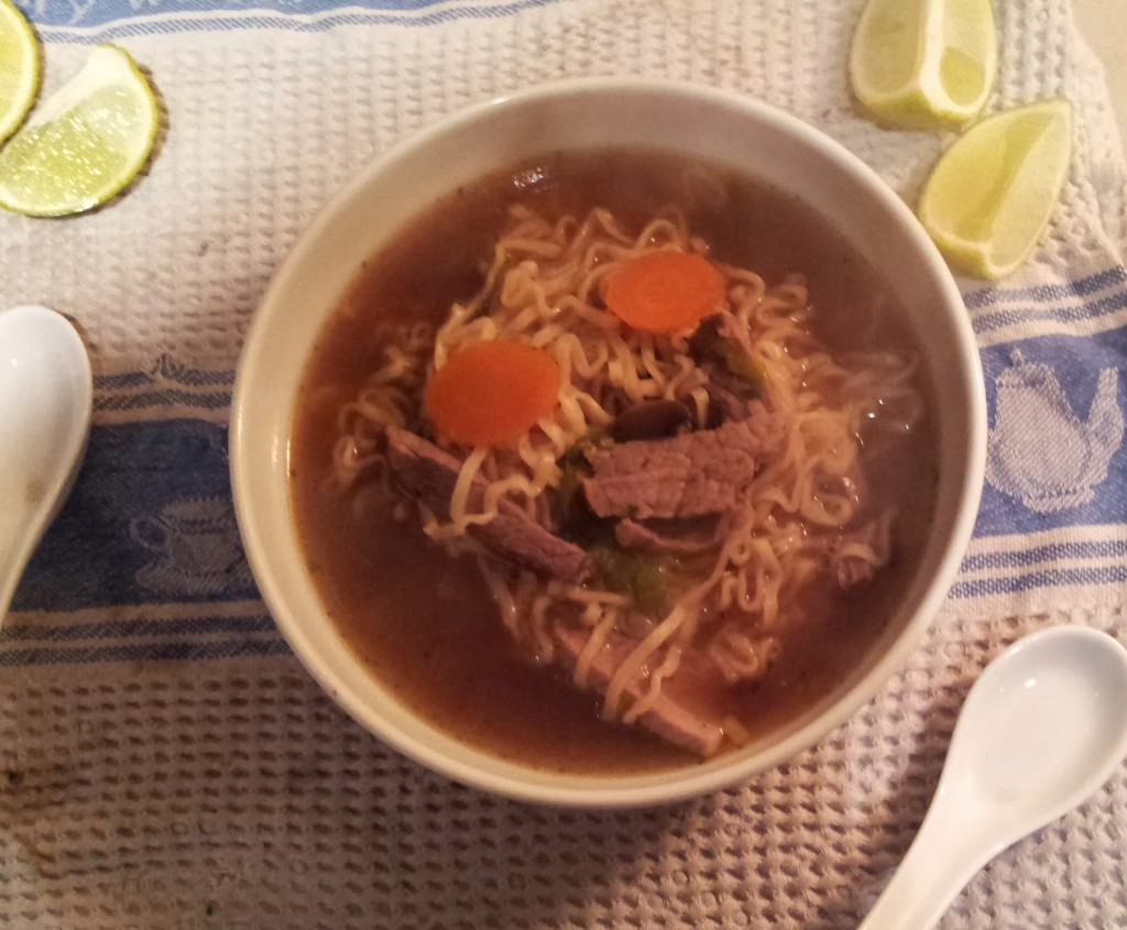 kinda beef pho made with leftover beef