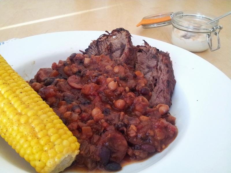 barbecue beef feijoada