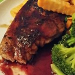 barnsley chop with redcurrant sauce