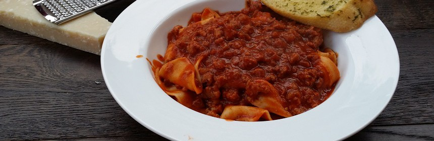batch cooked bolognese