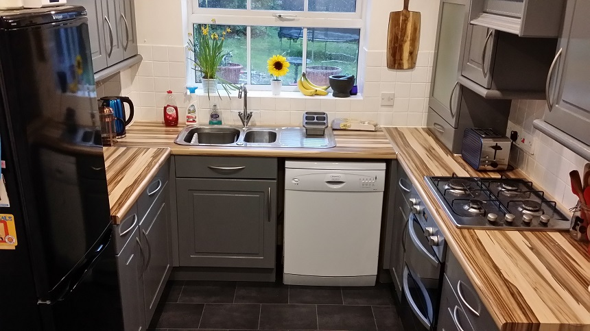 Completed kitchen makeover