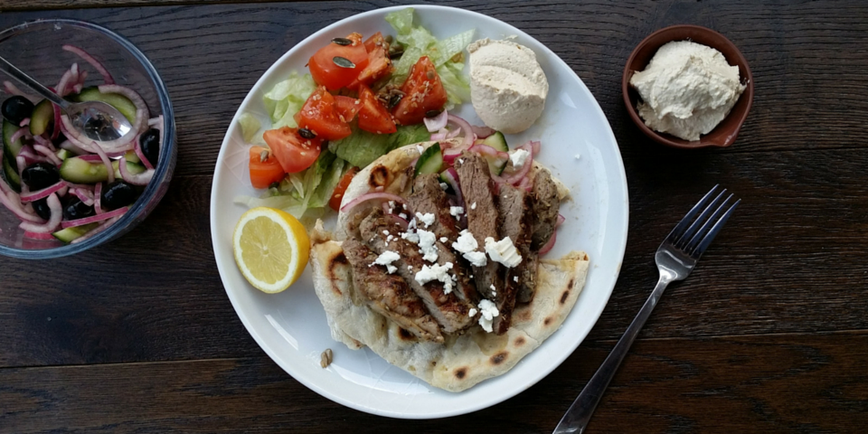 grilled lamb flatbreads