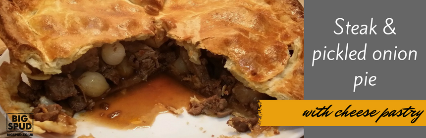 steak and pickled onion pie