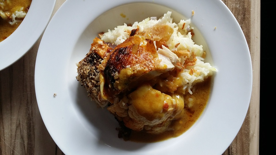 whole roast chicken katsu curry
