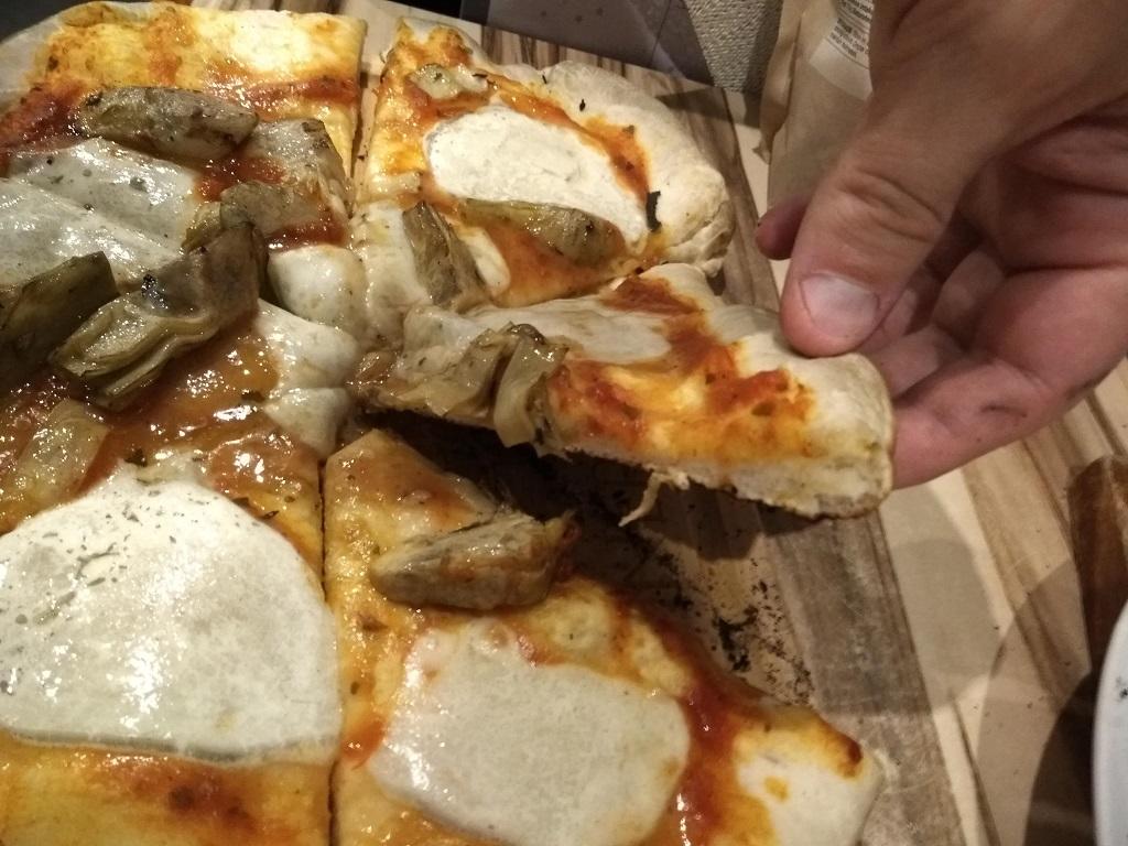 pizza baked with plain flour