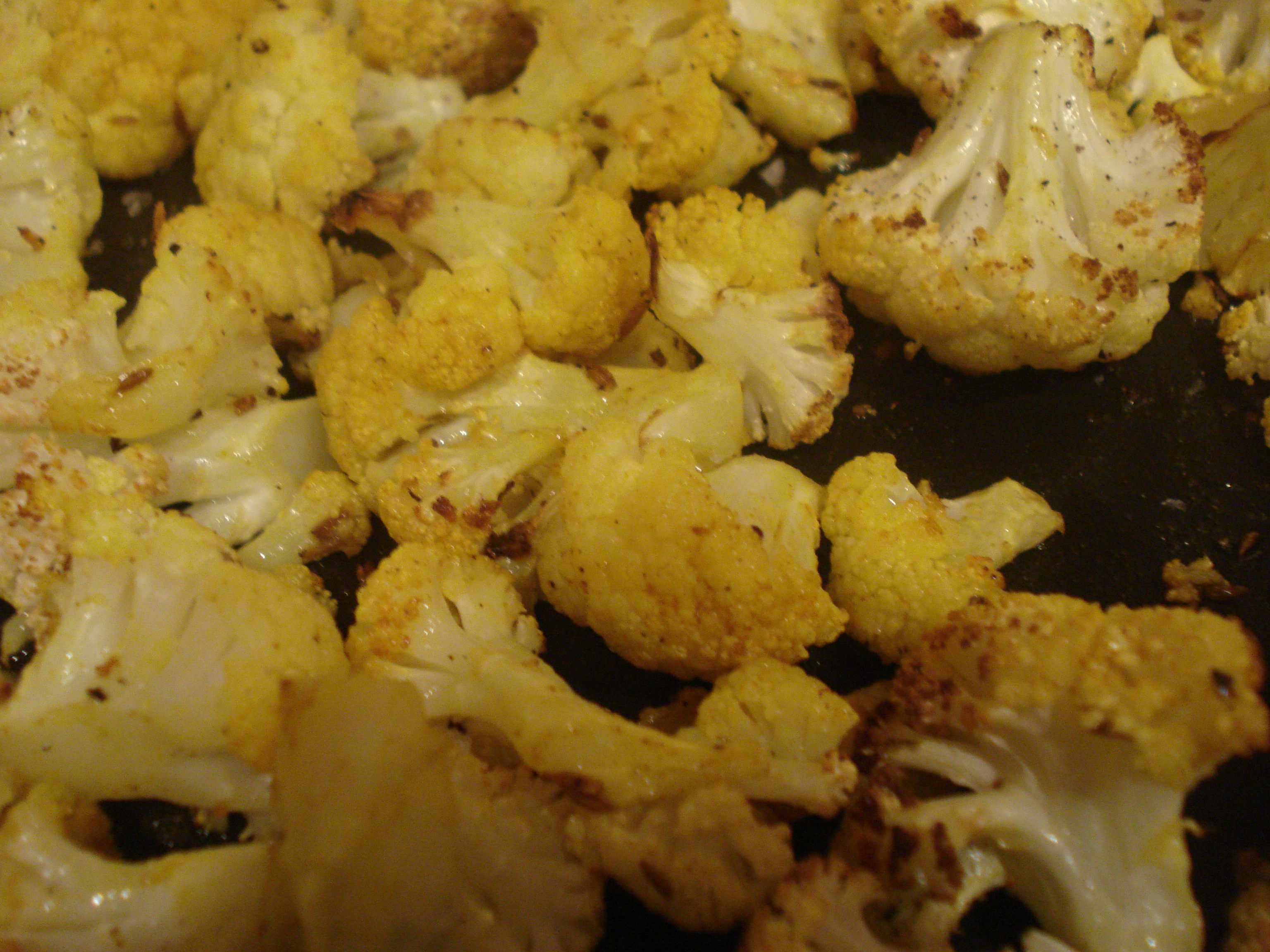 crispy roast spicy cauliflower