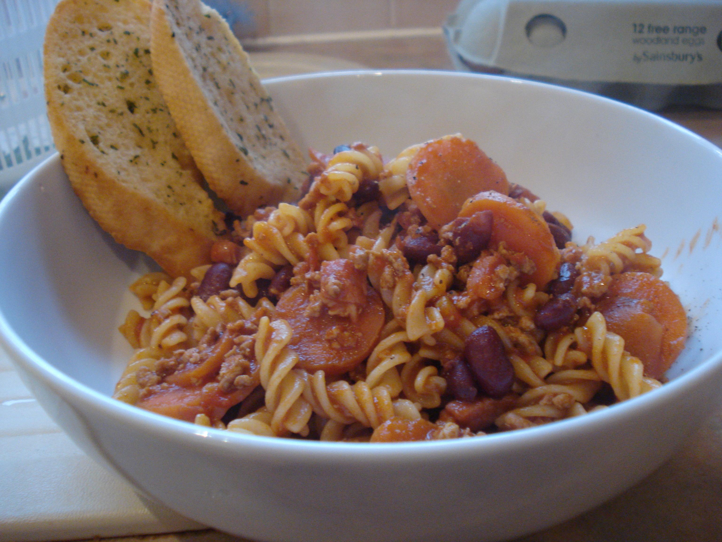 turkey and bean pasta