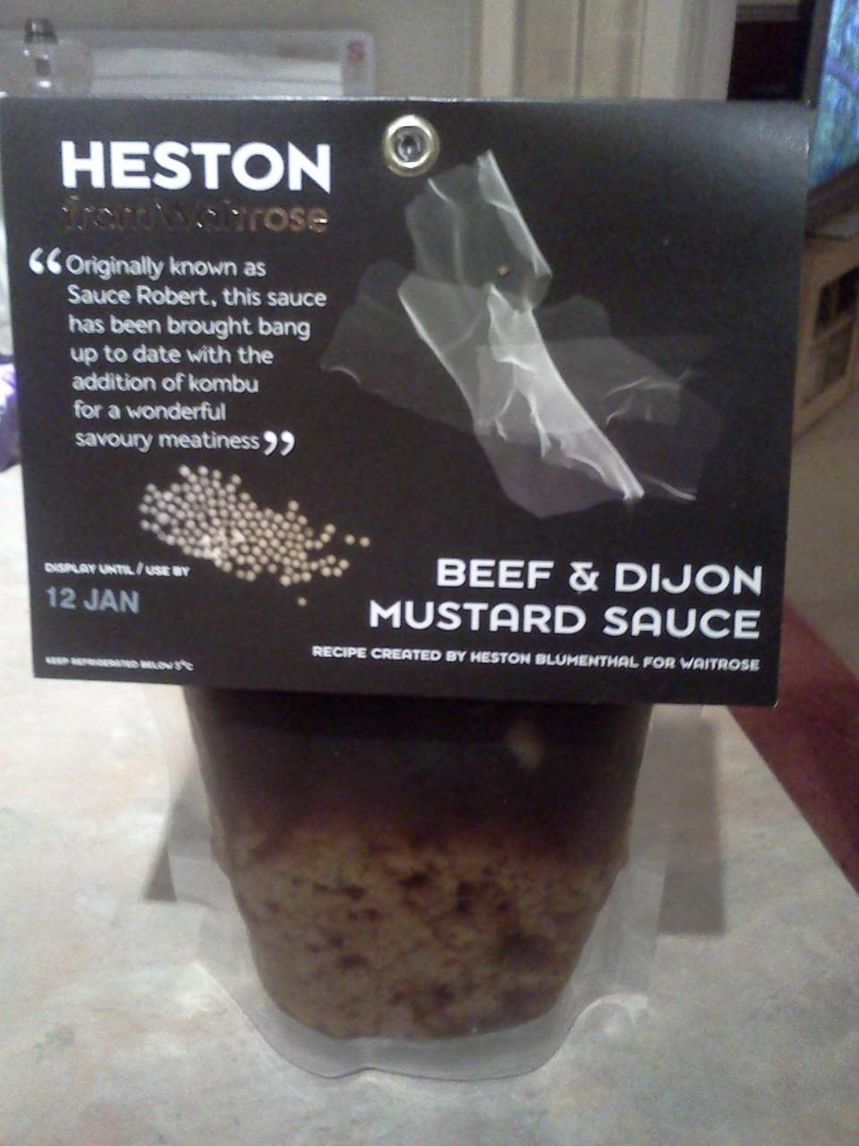 heston at waitrose beef and dijon mustard sauce