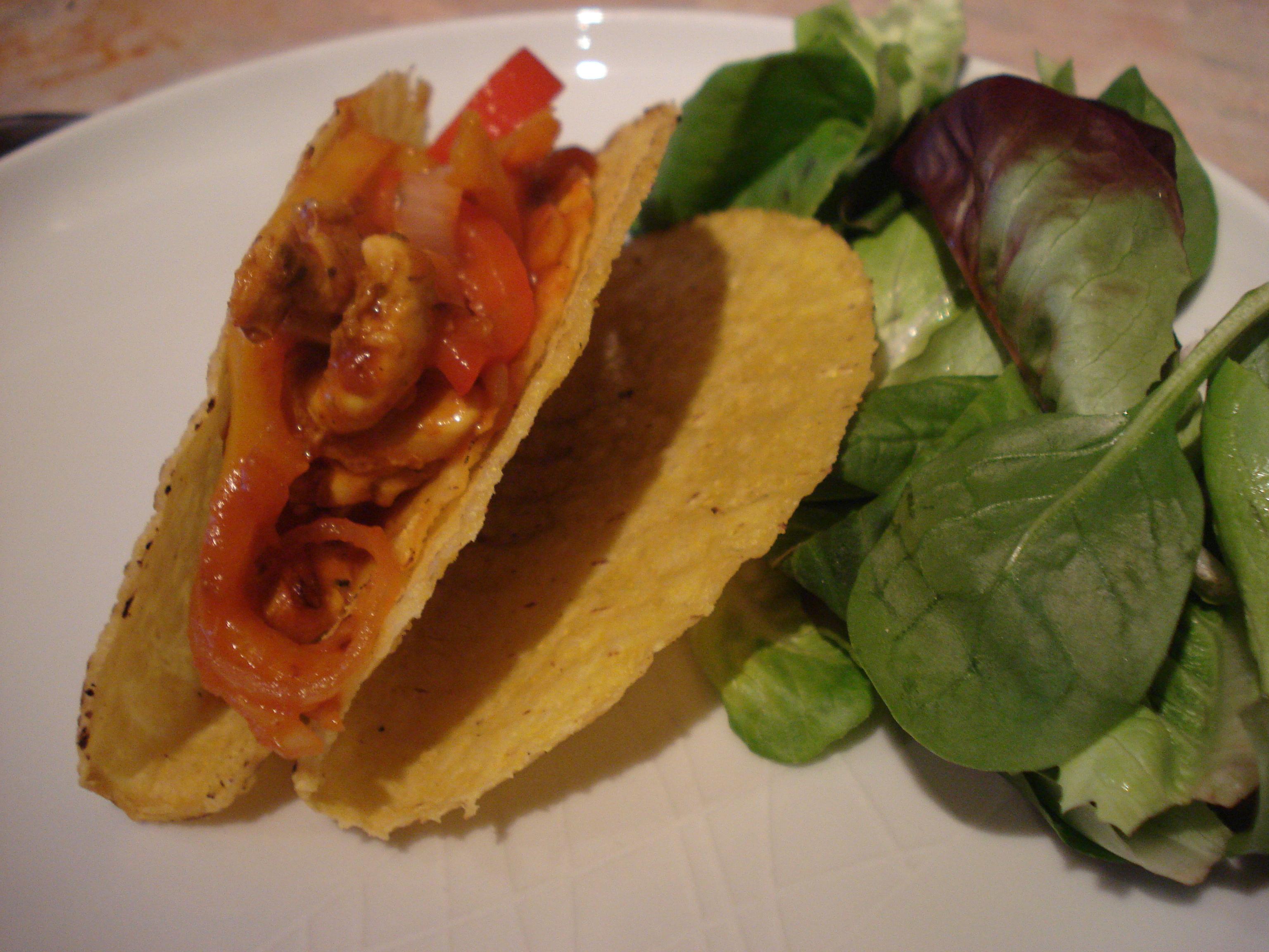 karo chicken tacos