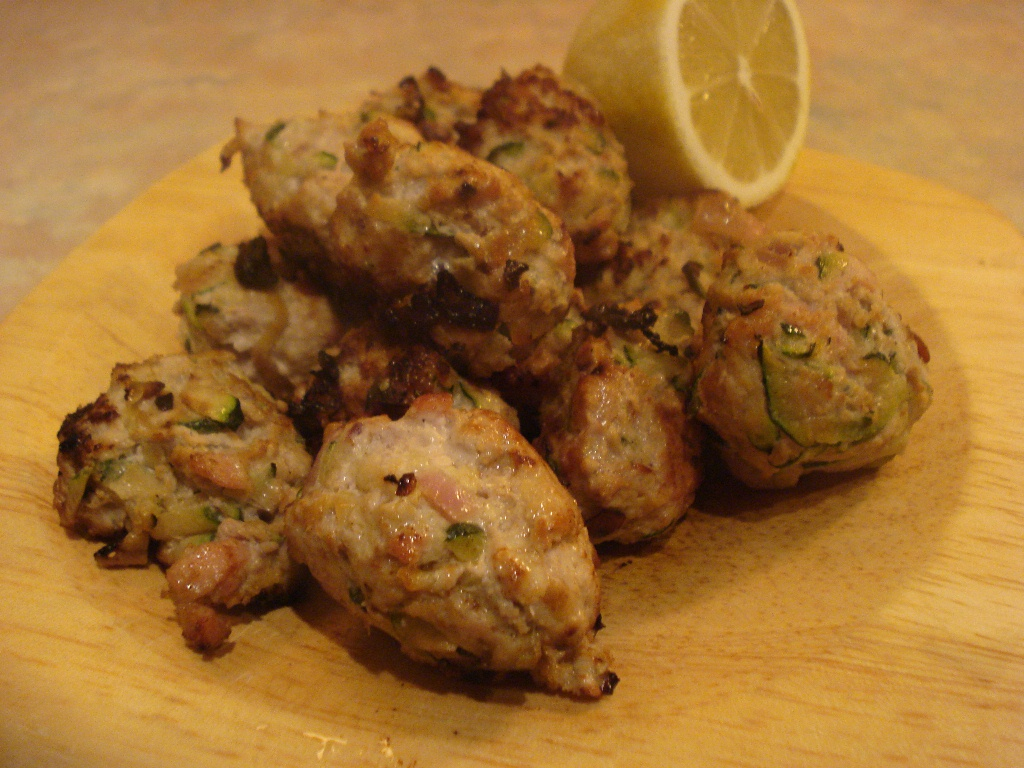 turkey and courgette meatballs