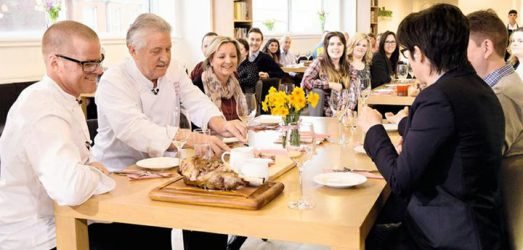 heston blumenthal, brian turner, sue perkins waitrose easter lunch