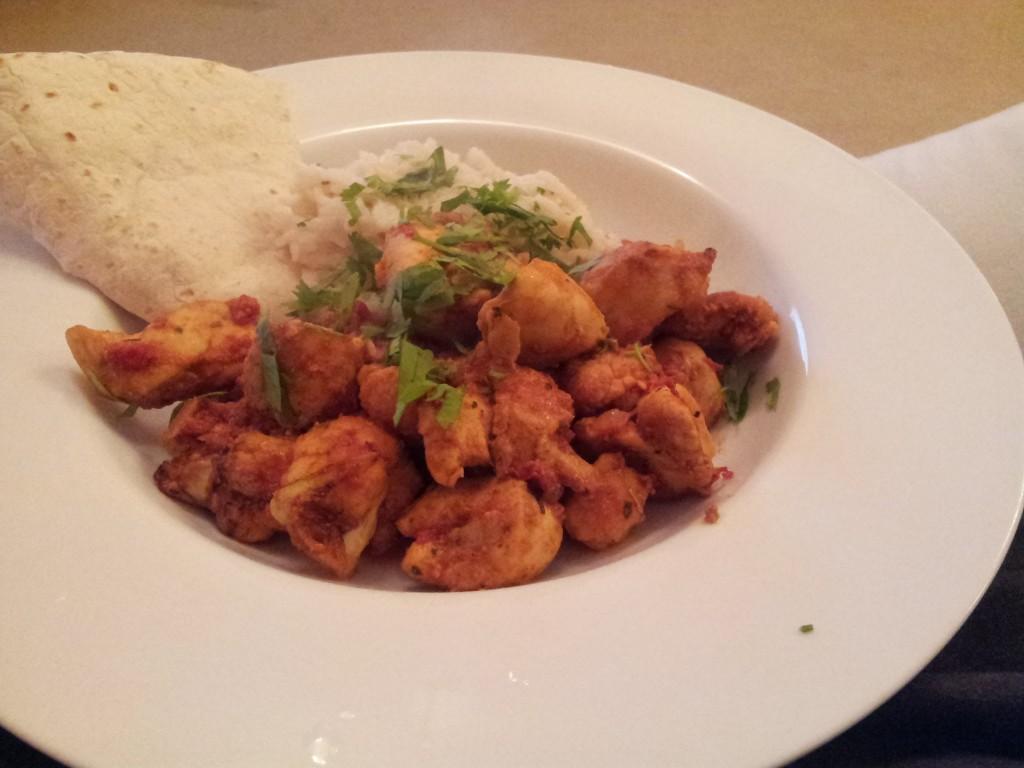 chicken tikka gobi cooked in tefal actifry