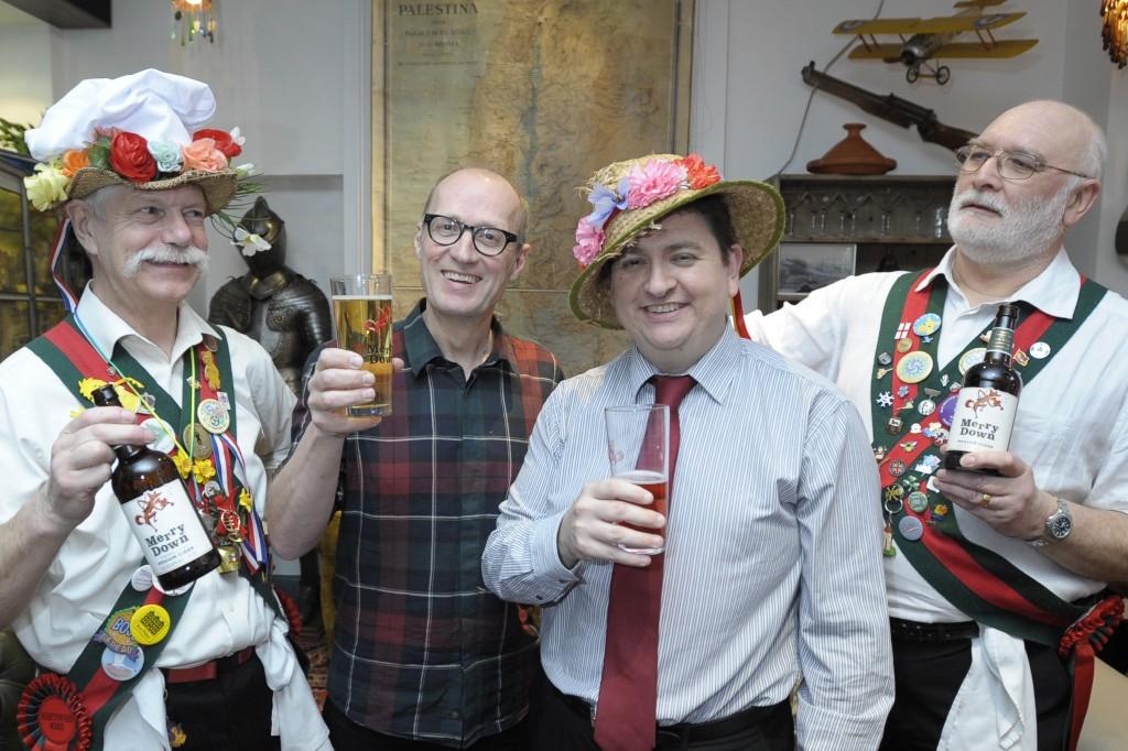 The Merrydown Morris dancers, Adrian Edmondson and me