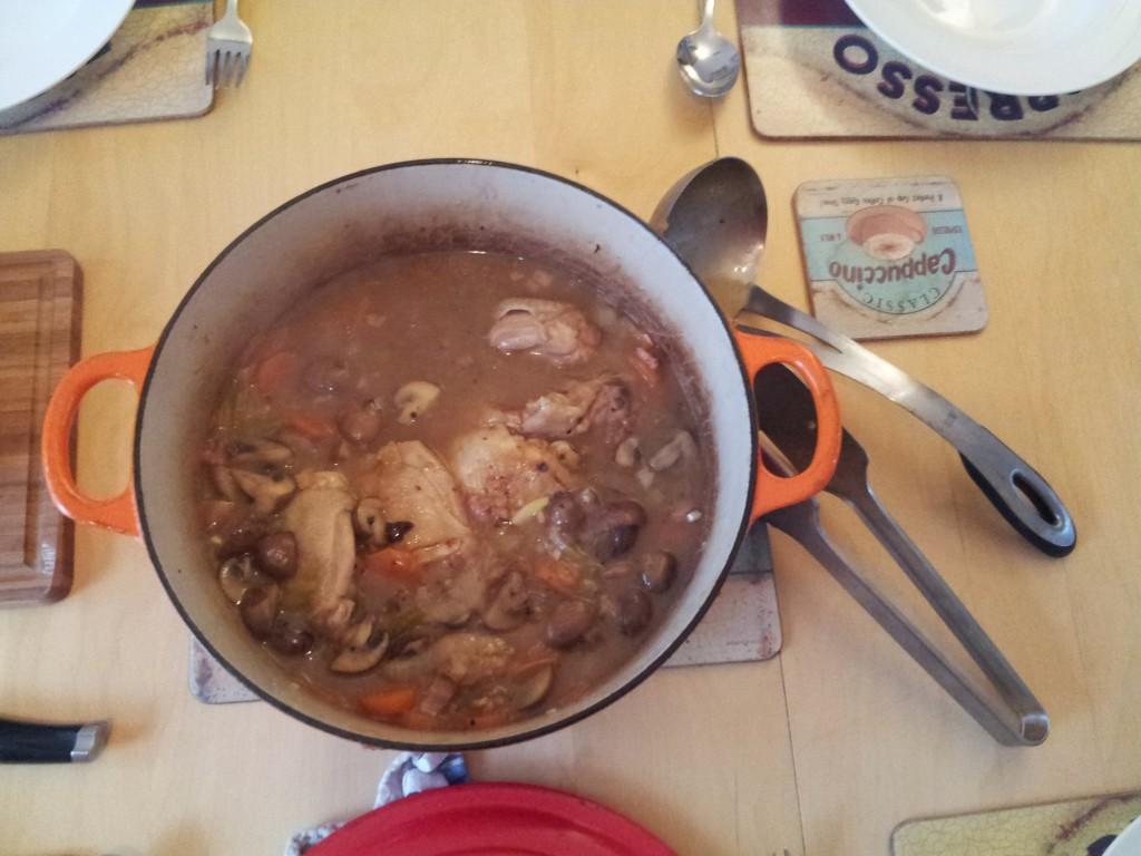 chicken in cider casserole