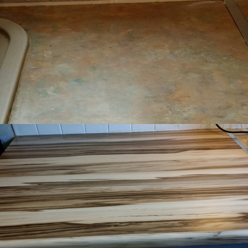 worktop before and after