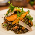 Nowegian Fjord Trout with lentils