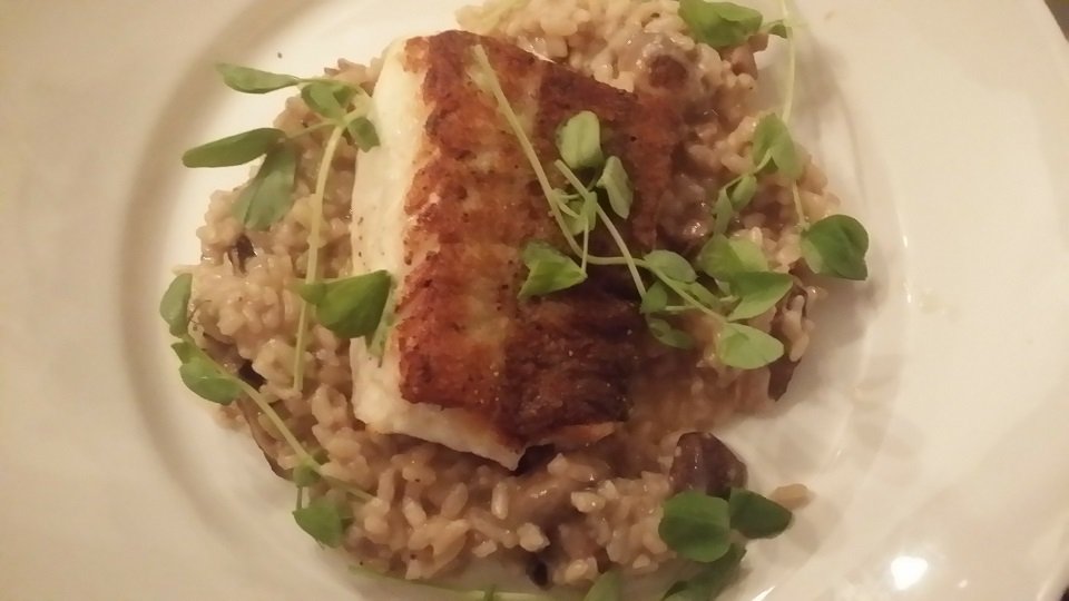 cod and risotto and The Cricketers