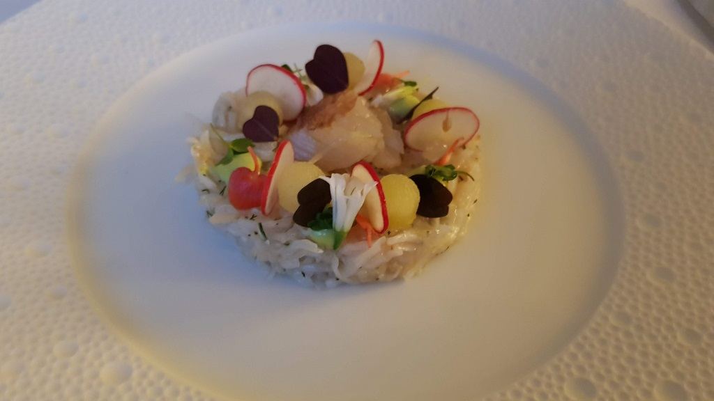 tian of crab at Petrus restaurant