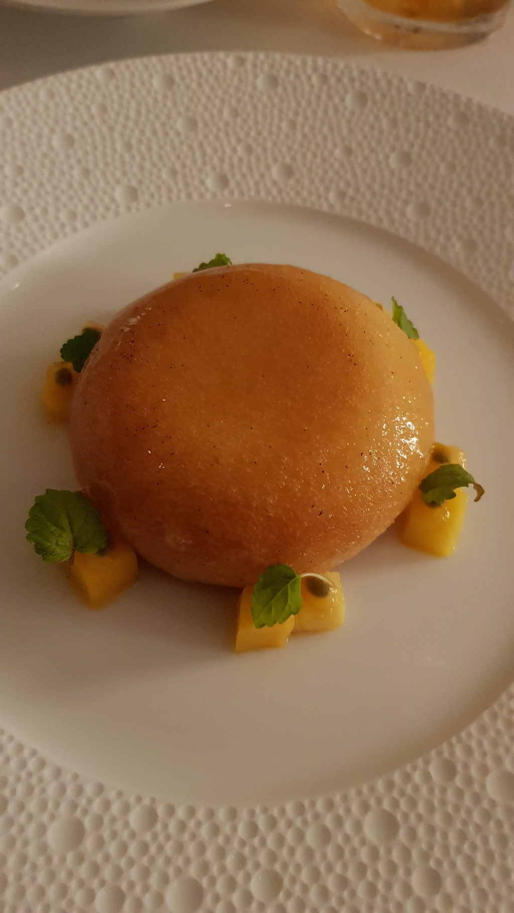 rum baba at Petrus restaurant