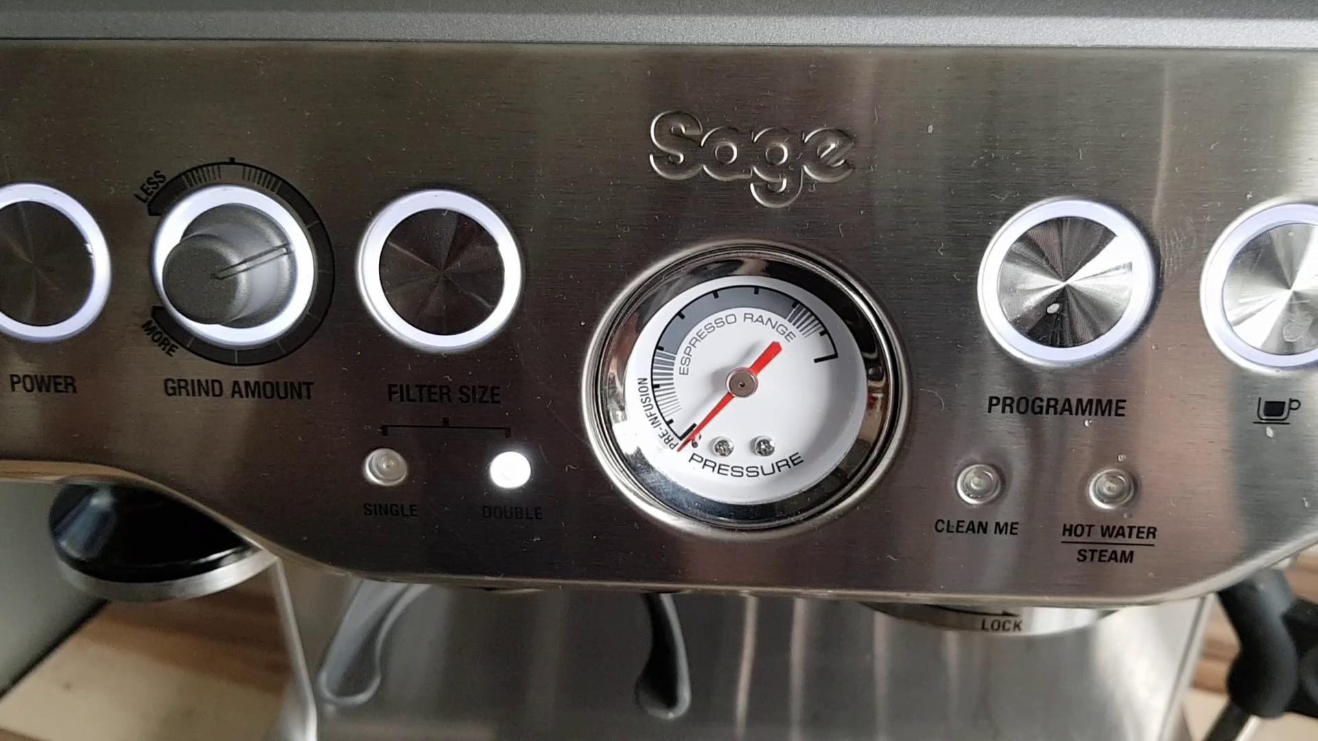 sage barista express pressure gauge
